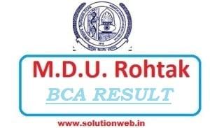 MDU BCA Result