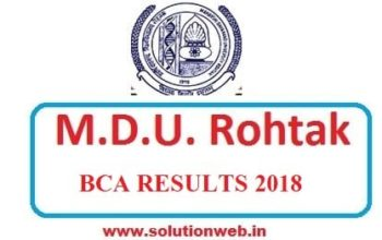 MDU BCA 2ND 4TH 6TH SEM RESULT