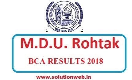 MDU BCA 2ND 4TH 6TH SEM RESULT 2018-2019 - SolutionWeb
