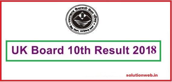 UK Board 10th Result Uttarakhand Board Class 10 Result
