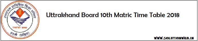 Uttarakhand Board Time Table 2018 Solutionweb