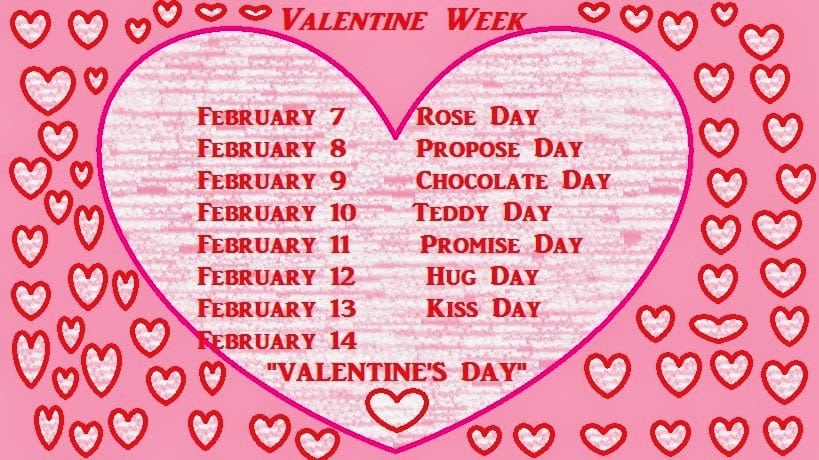 Valentines Day 2018 Valentine Week List 2018 Days Solutionweb