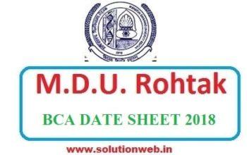 MDU BCA DATE SHEET 2018