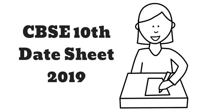 CBSE 10th Date Sheet
