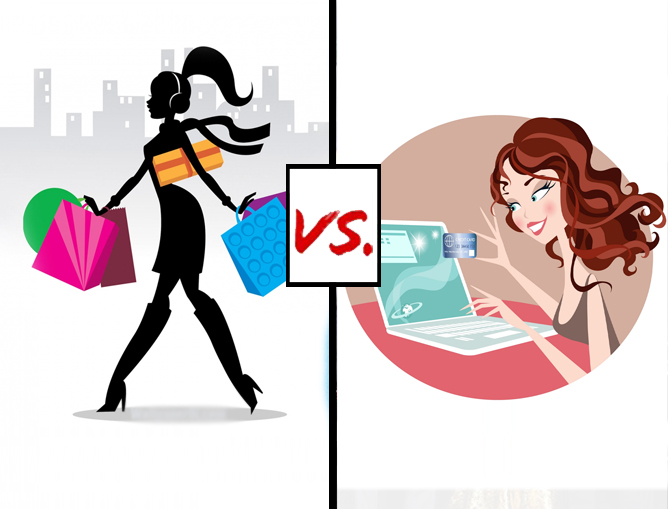 Differentiate between Traditional Commerce and E-commerce