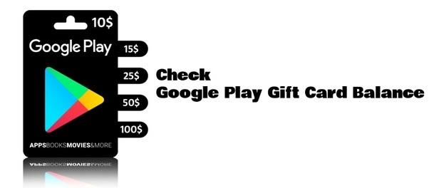 Google Play Gift Card Balance