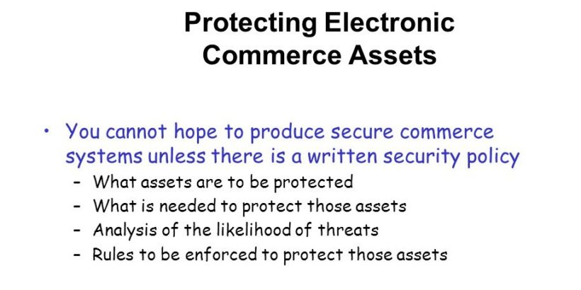 Protecting E-commerce Assets