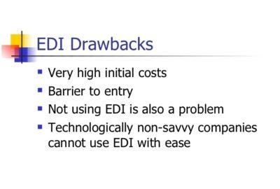 Disadvantage of EDI