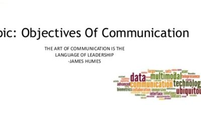What are communications objectives?