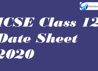 ICSE Class 12 Date Sheet